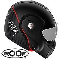 Casco Roof RO9Boxxer carbono negro mate Convertible Fibra moto Maxiscooter