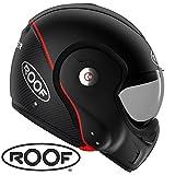 Motorrad-Helm Roof RO9Boxxer Carbon schwarz matt Cabrio-Headset Faser