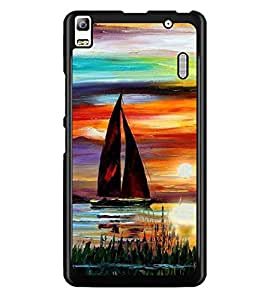 PrintDhaba Painting D-4892 Back Case Cover for LENOVO A7000 (Multi-Coloured)