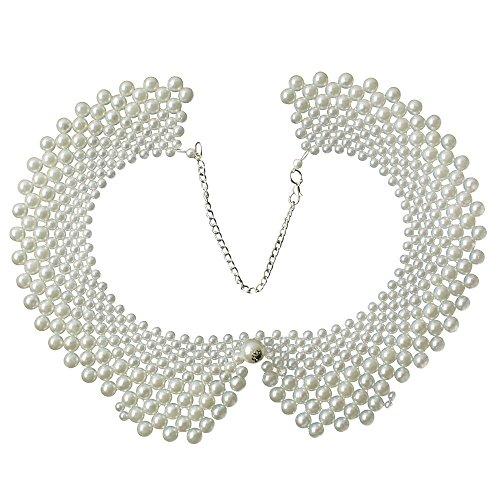niceeshop(TM) Vintage Retrostil Falsche Kragen Halsband Romantisch Halskette Mit Künstlich Perle-Weiß