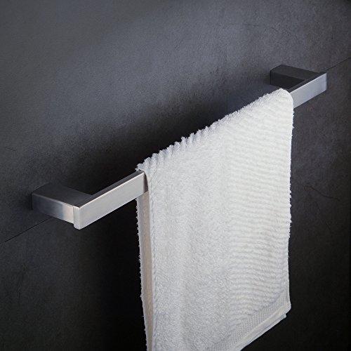 Handtuchhalter Bar Wandhalterung Nickel Pinsel Finish, 60cm, SUS 304Edelstahl, beelee ba8003N (Badezimmer Nickel Handtuchhalter)