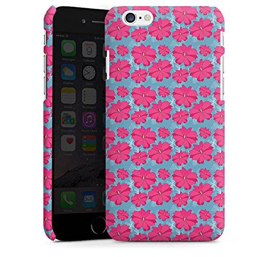 Apple iPhone X Silikon Hülle Case Schutzhülle Blumen Pink Muster Premium Case matt