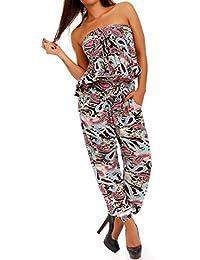 Young-Fashion - Combinaison - Sarouel - Imprimé Cachemire - Sans Manche - Femme taille unique