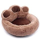 Doublele 1 Unid Forma de Pata de Felpa Nido de Perro Suave y Caliente Cachorro Gatito Nido Casa Cama Suministros para Mascotas