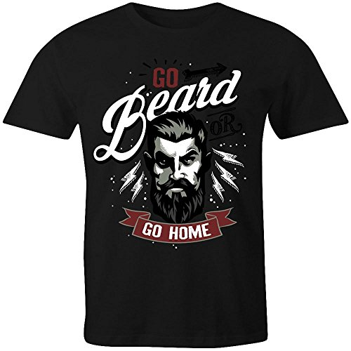 Go Beard or Go Home Ladies T-Shirt
