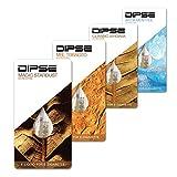 DIPSE Liquid Probier-Set für jede e Zigarette/eShisha - Frucht und Tabak Sorten zum Testen - Nikotinfrei (0.0mg/ml) von Dipse, 4 Stück