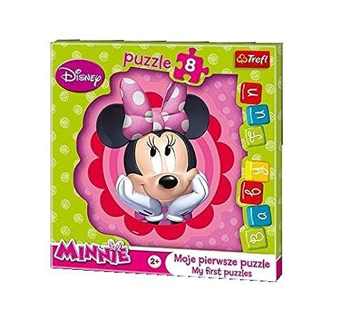 Trefl - 36117 - Baby Fun Puzzle - Disney Minnie rêvant - 8 Pièces