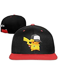 hittings Pokemon Pikachu Fashion Art Print Trucker tiene Style Red Red