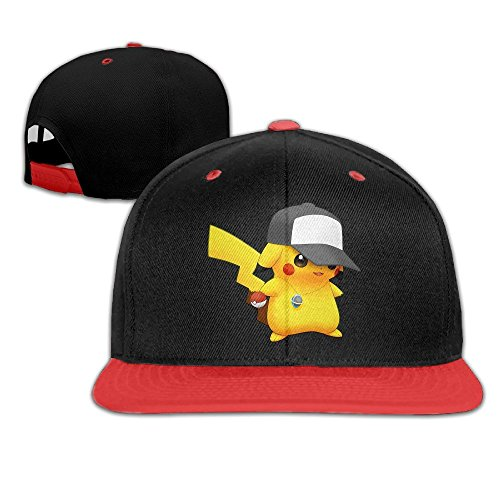 hittings-Pokemon-Pikachu-Fashion-Art-Print-Trucker-tiene-Style-Red-Red
