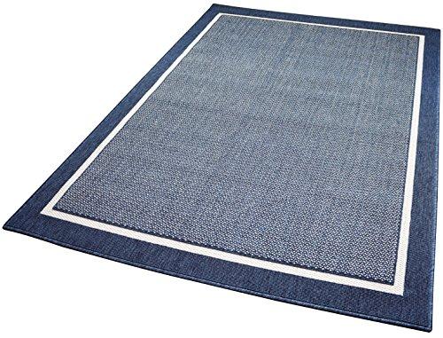 Balta Rugs in- und Outdoor-Teppich Framed Area Blue L 140x200cm f. Innen und Außen - Blue Area Teppich