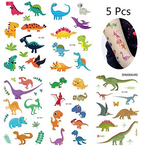 (JZTRADING Tätowierung Tattoos Sticker Temporäre Tattoos Kinder Halloween Körper Erwachsene Gefälschte Tattoos dinosaur1)