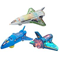 Battery Operated Plane Bump And Go Space Shuttle Rocket Plane With Lights And Sound HTUK®