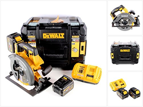Preisvergleich Produktbild DeWalt DCS 575 T2 Akku Handkreissäge FlexVolt Brushless 54 V 190 mm in T-Stak Box mit 2x DCB 546 6 Ah Akku + DCB 118 Schnellladegerät