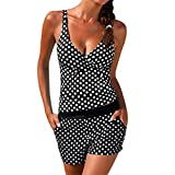 Femme Maillot De Bain 2 PièCes Dots Bikini Vintage Tankini Retro Bikini, Women...