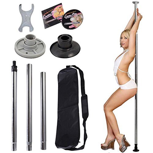 Dance Pole Full Kit Portable Stripper Exercise Fitness Club Party Dancing Silver by kwanchan