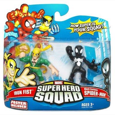 MARVEL 2008 - SUPER HERO SQUAD - 2-Pack - IRON FIST & Black Costume (Fist Iron Kostüm)