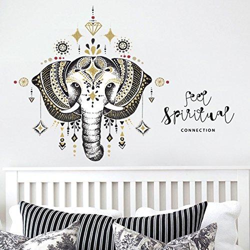 MON5F Home Viento nórdico Elefante Etiqueta de la Pared Dormitorio Sala de...