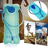 Forfar 1 PC Bolsa de agua plegable para transportador de agua Contenedores de agua plegables 2L Tanque de almacenamiento para acampar Caminar Picnic BBQ