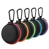 Kopfhörer Tasche, SUNGUY [5 Stück] Kleine runde Tasche Kopfhörer...