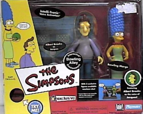 The Simpsons World of Springfield Interactive Enviroment Bowling Alley with Exclusive Jacques & Bowling Marge Figures by Playmates Toys Inc.