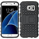 ebestStar - pour Samsung Galaxy S7 SM-G930F, G930 - Etui Housse Coque COMBO Duo Armor Support, Couleur Noir [Dimensions PRECISES de votre appareil : 142.4 x 69.6 x 7.9 mm, écran 5.1'']