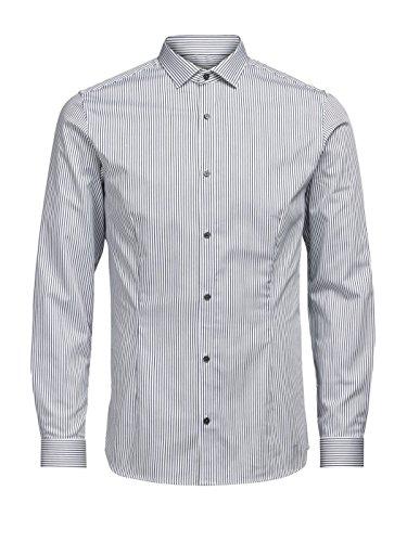 JACK JONES camicia parma righe UOMO CAMICIE Bianco