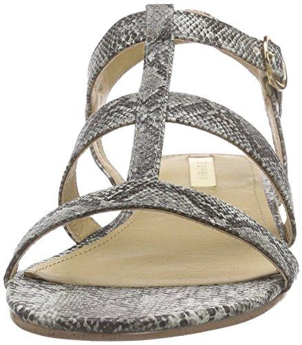 ESPRIT - Aely Sandal, Scarpe col tacco con cinturino a T Donna Grigio (Grau (030 grey))