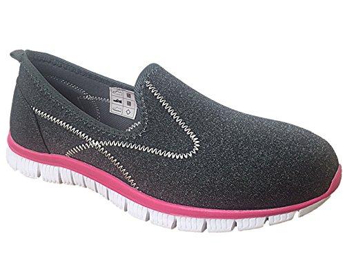 Foster Footwear , Damen Sneaker Dk Grey/Pink