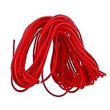Homyl Expanderseil 4mm Gummiseil Planenseil Spannseil elastisch Bungee-Seil - Rot, 20m