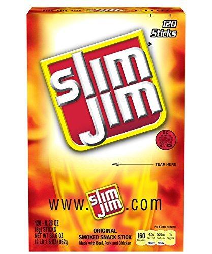 slim-jim-smoked-snack-sticks-original-028-ounce-pack-of-120-by-slim-jim