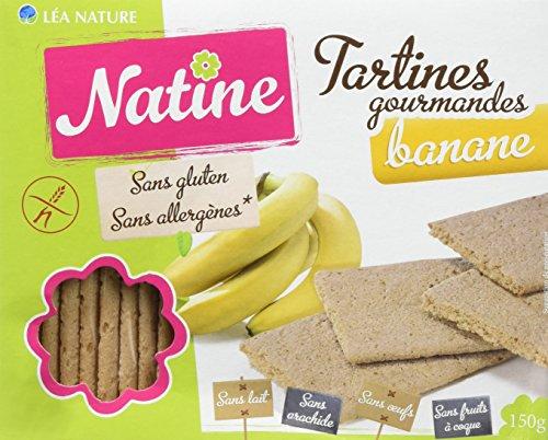 Natine Tartines Banane sans Allergènes 150 g - Lot de 3