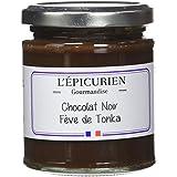 L'Epicurien Chocolat Noir Fève de Tonka Pâte à Tartiner au Chocolat 200 g - Pack de 5