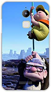 Crazy Beta Hollywood Disney up man and boy handing on rope in dificulties 3d design Printed mobile back cover case for Coolpad Note 3 Lite