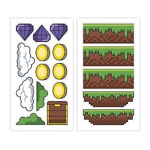 Dekora-231340 Adornos Comestibles Tipo Arcade para Cupcakes, Muffins, Bizcochos o Tartas Infantiles, color verde (231340)