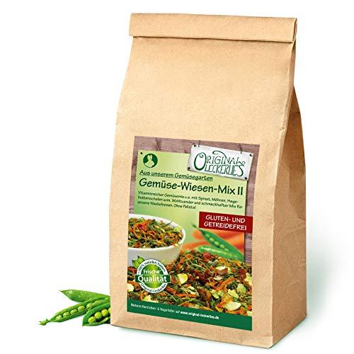 Original-Leckerlies: Gemüse-Wiesen-Mix II 1kg, Premium Qualität*** – getreidefrei – Kaninchenfutter, Nagerfutter, Meerschweinchenfutter, 100{ffb19a2e553526da6200004fdfcbe829a87a4d9f2e774e2de684432a13812276} Naturprodukt für Nager mit Gemüse und Kräutern
