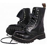 Steel Rangers Boots Combat Toe Black 10 Hole