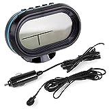 Thermometre Voltmètre Detecteur Voltage Tension batterie mesure Temperature exterieur et interieur alarme horloge affichage LCD numerique pour voiture