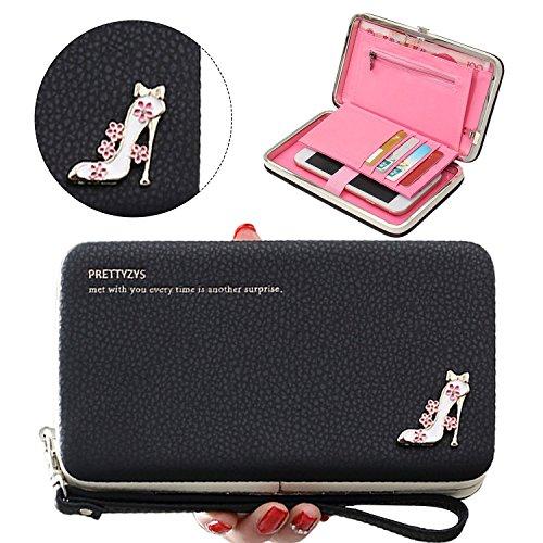 ltifunktions PU Leder Portemonnaie Handtasche Hand Seil Geldbeutel für iPhone Huawei Samsung Telefon ()