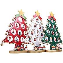 oulii rbol de navidad de madera bricolaje dibujos animados navidad ornamento regalo mesa escritorio decoracin decoracin - Arbol De Navidad De Madera