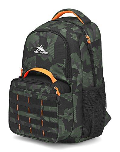 High Sierra Joel Lunch Kit Backpack, Shattered Camo/Black/Electric Orange
