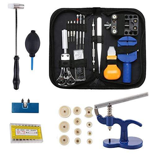 Kit de herramientas de reparación de relojes - Reloj manual del nuevo titular de caja Abridor de enlace removedor