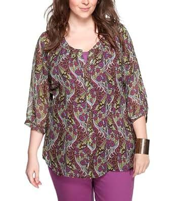 TRIANGLE - s.Oliver Damen Bluse Comfort Fit Plus Size / Übergröße