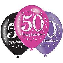 f83c8ba397581 Amscan – 9900878 celebración de 11 pulgadas 50th feliz cumpleaños ...