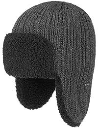 Lipodo Fliegermütze Lapplandmütze Ohrenschutz Strickmütze Wollmütze Ohrenklappen Nackenschutz für Damen und Herren mit Futter, Futter Winter