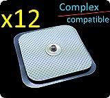 x12cuscinetti TENS 40x 40mm genericas Compex compatibili.