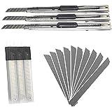 MINGZE Utility Knife, Coltello multiuso retrattile in acciaio inox, lame per coltelli 30pcs 9mm, coltello per hobby con design hardware, perfetto per il taglio, incisione in ufficio oa casa