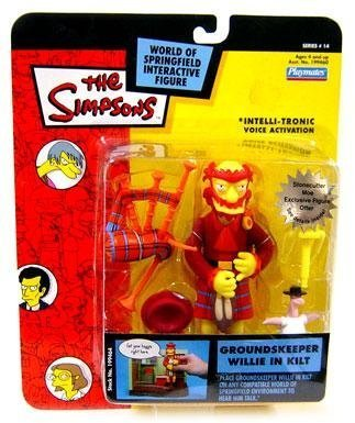 PlayMates The Simpsons Series 14 Action Figure Groundskeeper Willie in Kilt