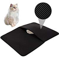 HOVNEE Estera de gatos Alfombrilla Gato impermeable alfombra de basura rascadores Cat Litter Mat Litter Trapping doble capa Fácil de limpiar