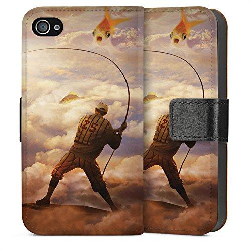 Apple iPhone 5s Housse Étui Protection Coque Poisson Poisson rouge Pêche Sideflip Sac