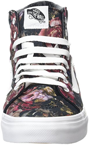 Vans Sk8-Hi Slim, Sneakers Hautes Mixte Adulte Multicolore (Moody Floral black/true white)